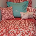 Aqua Dorm Room Bedding , 8 Unique Coral Bedspread In Bedroom Category