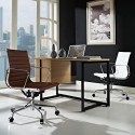 Back Office Chair in Leather , 8 Superb Mid Century Reproduction Furniture In Furniture Category