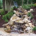Backyard Waterfall with lush garden , 7 Ultimate Backyard Waterfalls In Others Category