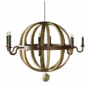 Barrel Orb Chandelier , 7 Outstanding Orb Chandelier In Lightning Category