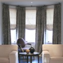 Bay Window Curtain Rod with Ceiling Brackets , 8 Nice Bay Window Curtain Rods In Interior Design Category