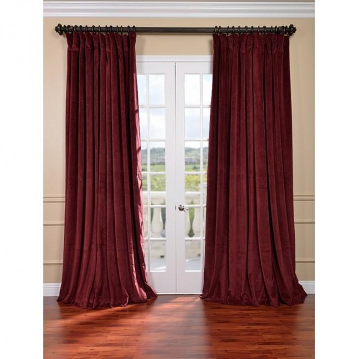 Others , 7 Amazing Velvet Curtain Panels : Burgundy Velvet Blackout