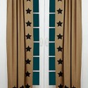 Burlap Natural Black Stencil Stars Curtain Panels , 8 Hottest Burlap Curtain Panels In Others Category