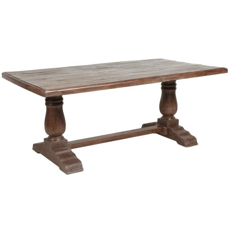 750x750px 8 Cool Trestle Dining Table Picture in Furniture