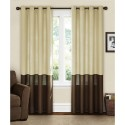 Canopy Lined Color Band , 8 Charming Lined Curtain Panels In Others Category