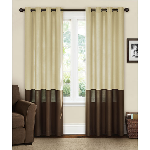 Others , 8 Charming Lined Curtain Panels : Canopy Lined Color Band