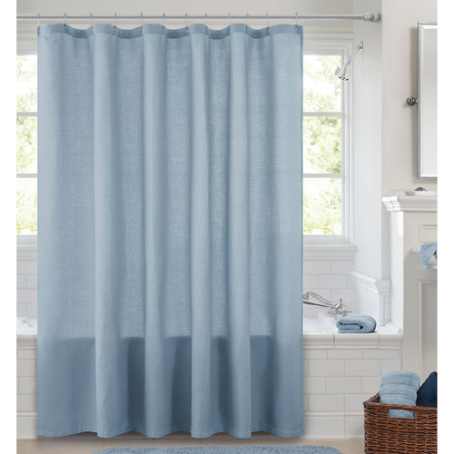 Others , 6 Popular Waffle Shower Curtain : Canopy Waffle Weave Shower Curtain