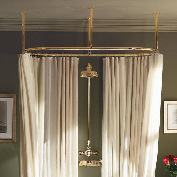 Others , 4 Good Oval Shower Curtain Rod : Ceiling Shower Curtain Rod