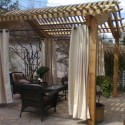 Classic Pergola with curtains , 8 Ideal Pergola Curtains In Homes Category