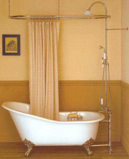 Bathroom , 7 Nice Clawfoot Tub Shower Curtain : Clawfoot Tub Shower Curtains