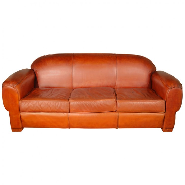 Furniture , 8 Ideal Overstuffed Sofa : Comfortable Leather Sofa