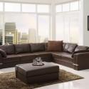 Contemporary Modern Brown Sectional Sofa , 7 Stunning Sectional Couches In Furniture Category