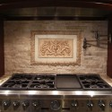 Copper Kitchen , 7 Cool Backsplash Medallions In Kitchen Category