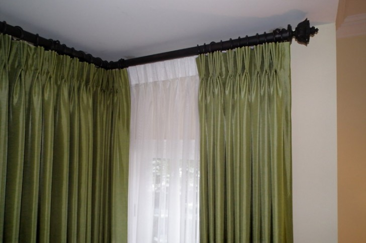 Others , 7 Ultimate Corner Window Curtain Rod : Corner Curtain Rod Photos