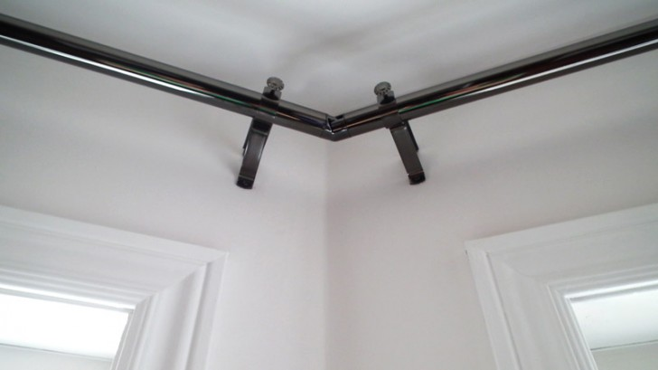 Others , 7 Popular Corner Curtain Rods : Corner Curtain Rods