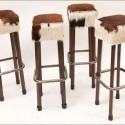 Cowhide Bar Stools , 7 Fabulous Cowhide Bar Stools In Furniture Category