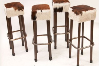 610x456px 7 Fabulous Cowhide Bar Stools Picture in Furniture