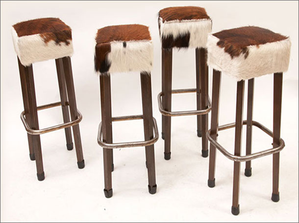 Furniture , 7 Fabulous Cowhide Bar Stools : Cowhide Bar Stools