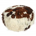 Cowhide Leather Pouf Ottoman , 5 Charming Cowhide Ottoman In Furniture Category
