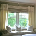 Cream Sofa Little Curtain Designs , 8 Gorgeous Bay Window Curtain Ideas In Others Category