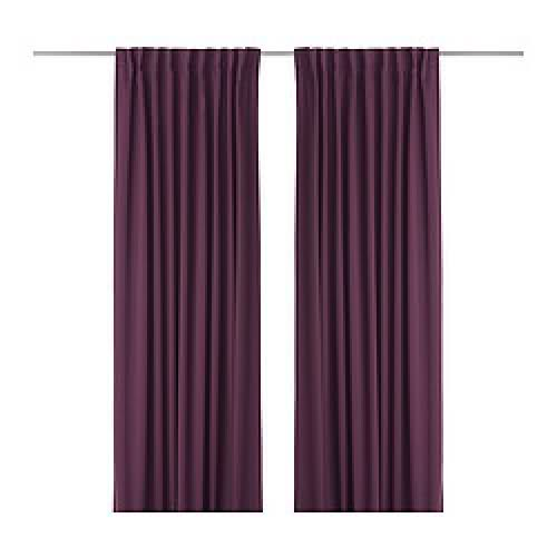 Others , 7 Top Ikea Blackout Curtains : Curtains Rare Deep Purple