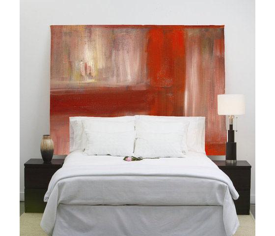 Bedroom , 7 Stunning Handmade Headboards : Custom Headboards Red