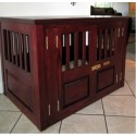 Custom Solid Wood Dog Crates , 6 Cool Custom Dog Crates In Furniture Category