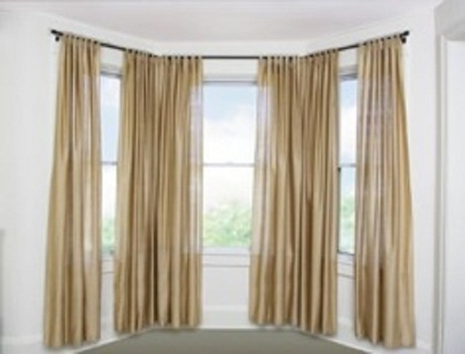 Others , 7 Stunning Curtain Rods For Bay Windows : Decorative Umbra Curtain Rods