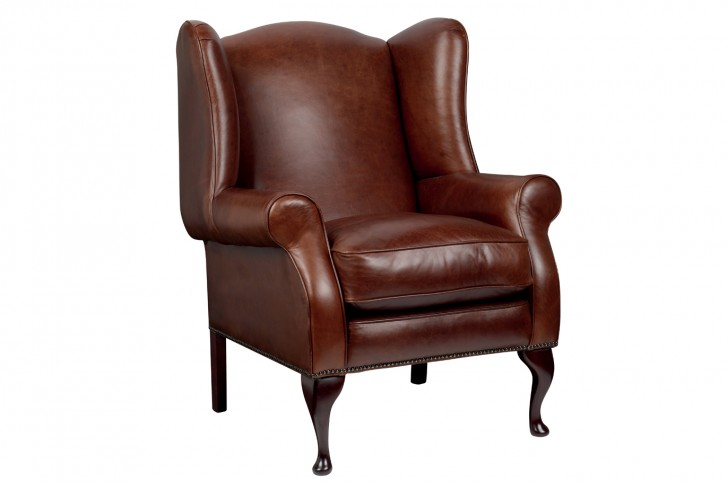 Furniture , 7 Unique Wingback Chair : Denbigh Leather Wing Chair
