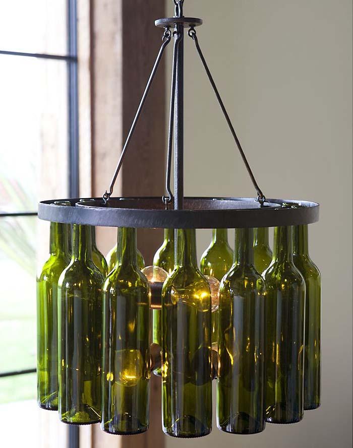 Lightning , 8 Awesome Wine Bottle Chandelier : Dining Room Lights
