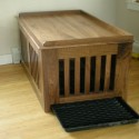 Dog Crate with removeable Tray , 6 Cool Custom Dog Crates In Furniture Category