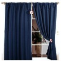 Dotted Thermal Insulated Blackout Curtain , 7 Gorgeous Navy Blackout Curtains In Others Category