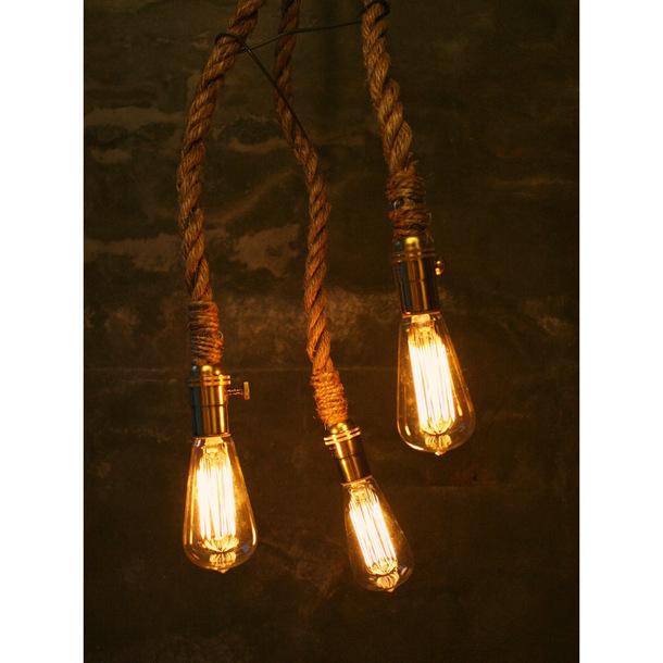 Lightning , 7 Awesome Edison Bulb Chandelier : Edison Bulb Rope Chandelier