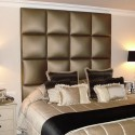 Bedroom , 8 Fabulous Padded headboard : Elegant Padded Headboard Master Bedroom Design