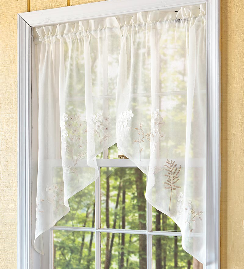 Embroidered Hydrangea Sheer Curtain 7 Best Embroidered Sheer Curtains