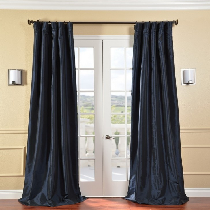 Others , 8 Fabulous 108 Curtain Panels : Faux Silk Taffeta Navy