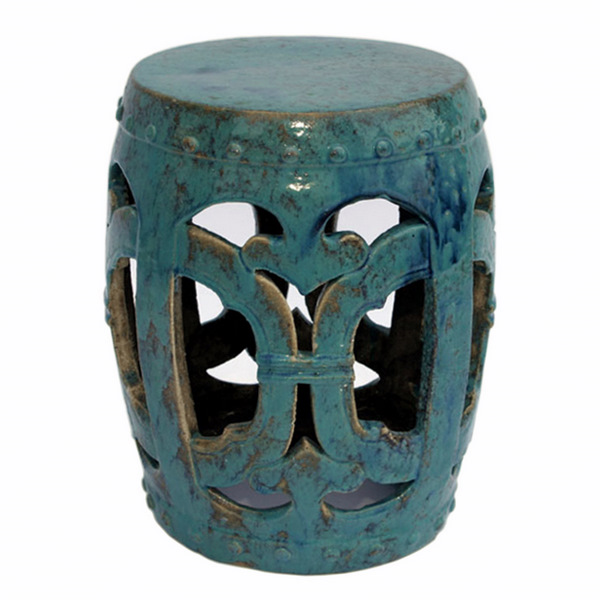 Furniture , 8 Stunning Ceramic Garden Stool : Finely Finished Ceramic Garden Stool