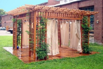576x432px 8 Ideal Pergola Curtains Picture in Homes