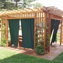 Garden Room Pergola  , 8 Ideal Pergola Curtains In Homes Category