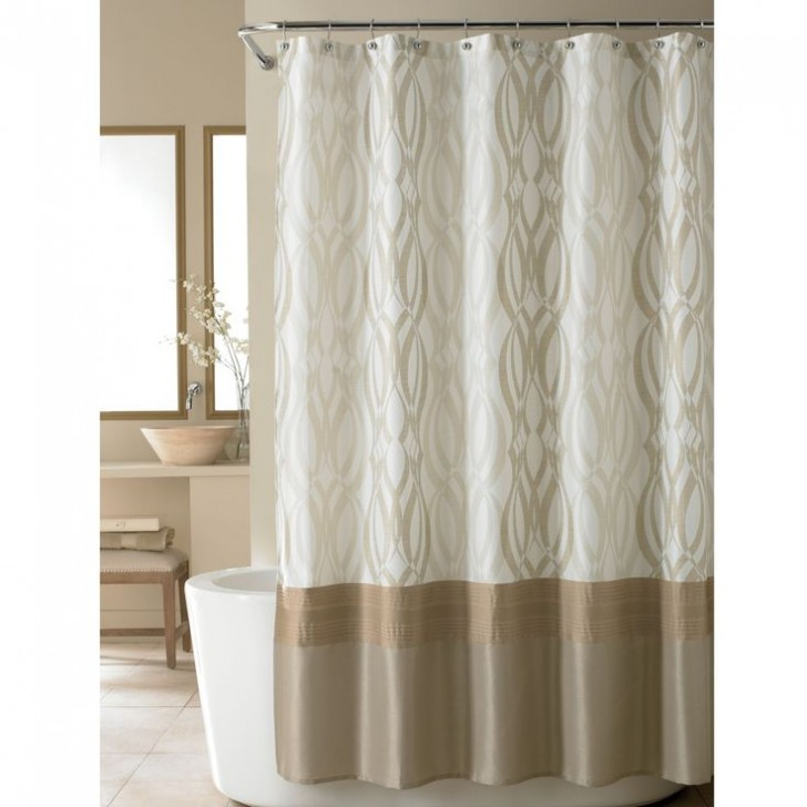 Others , 8 Fabulous Nicole Miller Shower Curtain : Golden Rule Fabric Shower Curtain