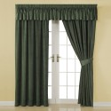 Green Chenille Lined Pencil Pleat Curtains , 7 Charming Pleated Curtains In Others Category