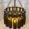 Green Wine Bottle Chandelier , 8 Awesome Wine Bottle Chandelier In Lightning Category