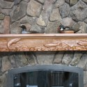 Hand carved rustic mantle , 7 Gorgeous Rustic Mantels In Others Category
