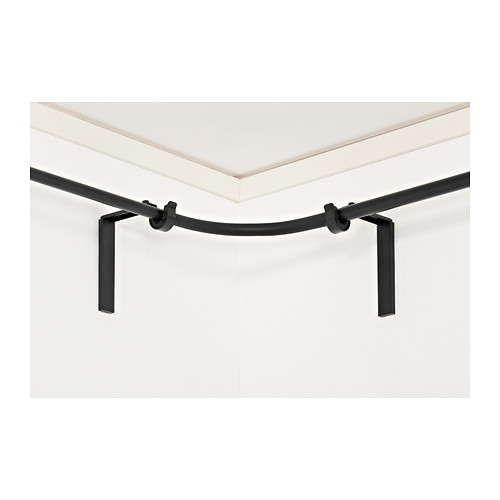 Ikea corner curtain rod