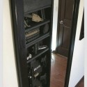 Hidden gun safe behind the bedroom mirror , 7 Superb Hidden Gun Safes In Furniture Category