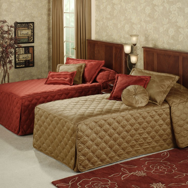 Bedroom , 8 Superb Fitted Bedspreads : Home Color Classics Quilted Fitted Bedspread