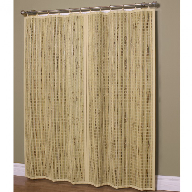 Others , 7 Stunning Bamboo Curtain Panels : Home Natural Bamboo Ring