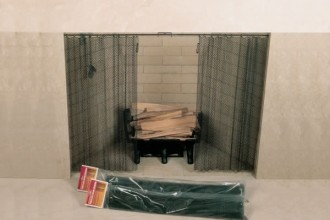 600x493px 6 Nice Fireplace Mesh Curtain Picture in Others