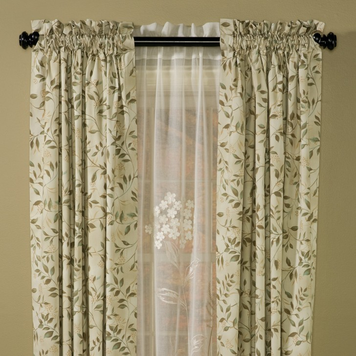 Others , 8 Charming Thermal Curtain Panels : Insulated Vine Curtain Panels