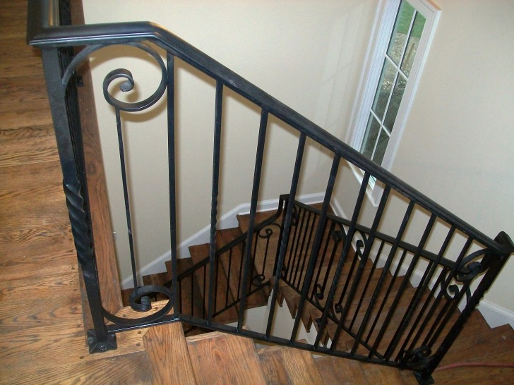Interior Design , 8 Nice Wrought Iron Stair Railing : Interior Iron Stair Railing